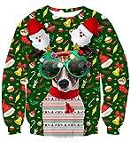 uideazone Unisex 3D Impreso Feo Navidad Jersey Sudaderas Navidad Camiseta (Christmas Perro, S)