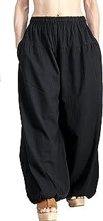 柔らかコットンバルーン風パンツ(黒)