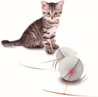 Cathyのハウス ペット ボール 猫 犬 電動 LED 光 ボール おもち コロコロ ストレス 解消 3色 ボール (ホワイト)