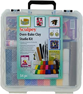 Sculpey Oven bake clay studio kit, 54pc