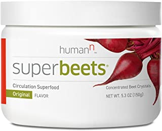 HumanN SuperBeets Circulation Superfood Concentrated Beet Powder Nitric Oxide Boosting Supplement (Original Flavor, 5.3-Ounce)