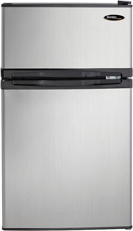 Danby DCR031B1BSLDD 3 1 Cu Ft 2 Door Compact Refrigerator Steel