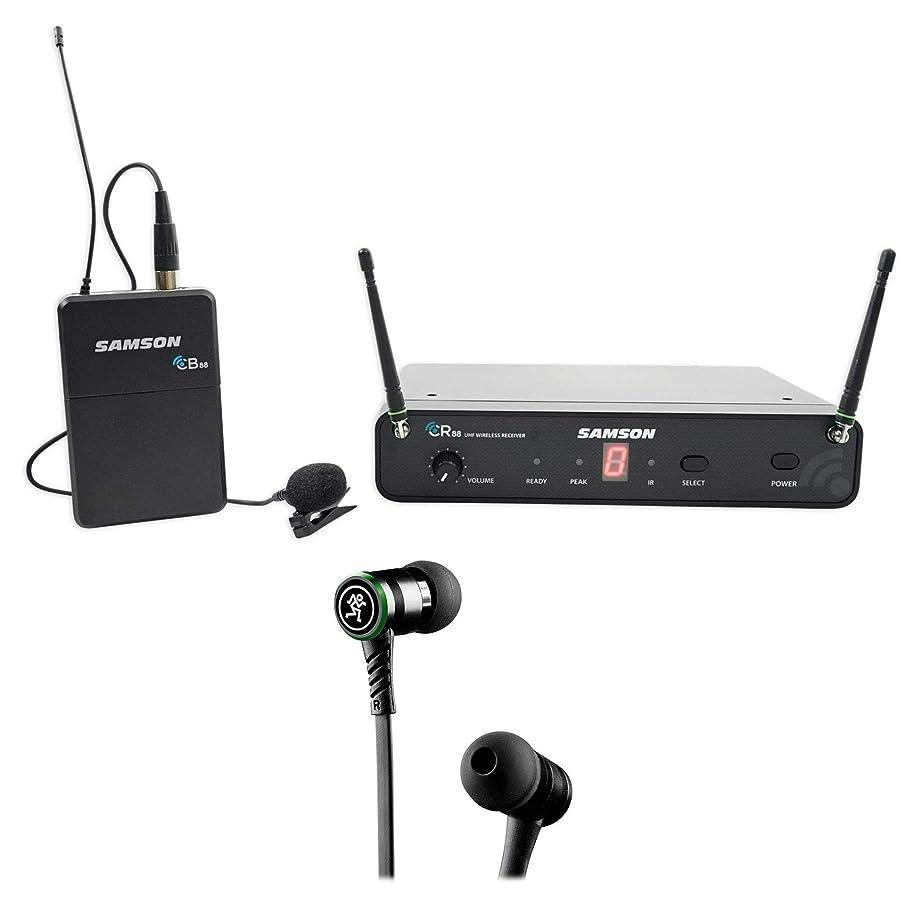 SAMSON Concert 88 Presentation Wireless Lavalier w/ LM5 Lav Mic+Mackie Earbuds