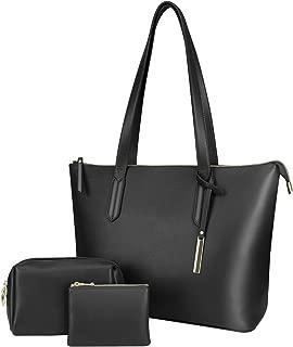 Women Tote Bag Handbags for Women Fashion Top Handle Shoulder Bag, Coin Purse, Cosmetics Pouch (3Pcs Set)