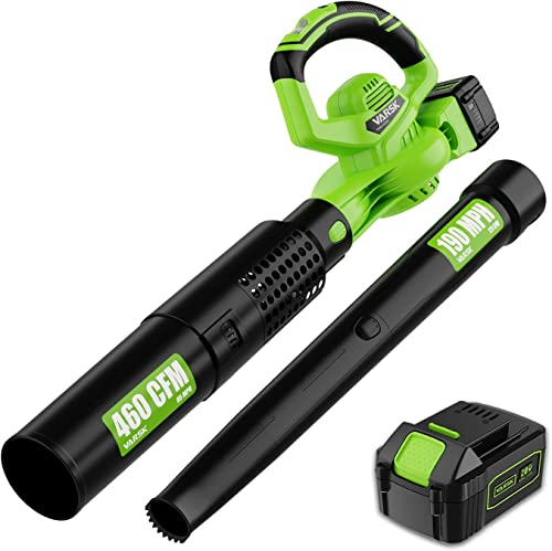 2021 VARSK 2-in-1 Cordless Leaf Blower - wholesale 460 CFM & 190 MPH Electric Leaf Blower with 4.0Ah Battery wholesale and Charger, 6 Variable Speed Control for Blowing Leaves, Snow Debris and Dust sale