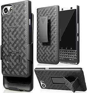 BlackBerry KEYone Case , Belt Clip Holster Cover Shell Kickstand Criss Cross Black New Plaid Design For BlackBerry KEYone