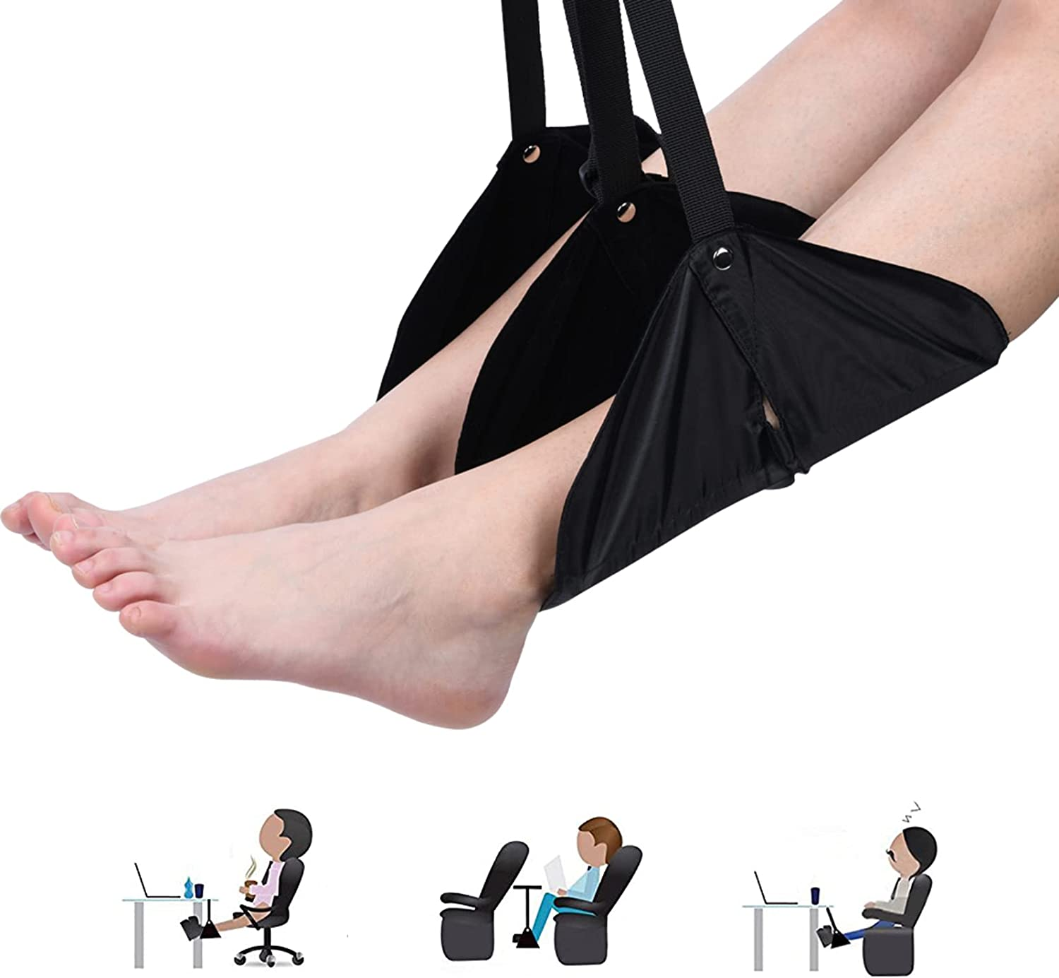 Brrnoo Airplane Footrest Foot Free shipping anywhere in the nation Adj Over item handling Carry-On Rest Flight