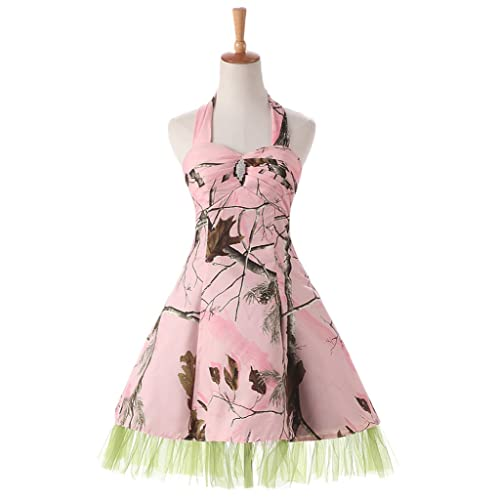 58905784c68bf Laceshe Pink Camo Short Maxi Holiday Girls Bridesmaid Dresses Homecoming
