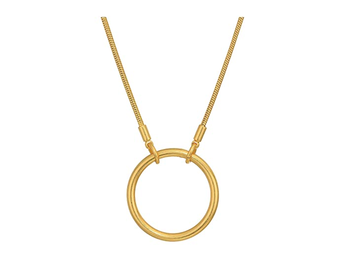 Madewell  Adjustable Ring Choker Necklace (Vintage Gold) Necklace
