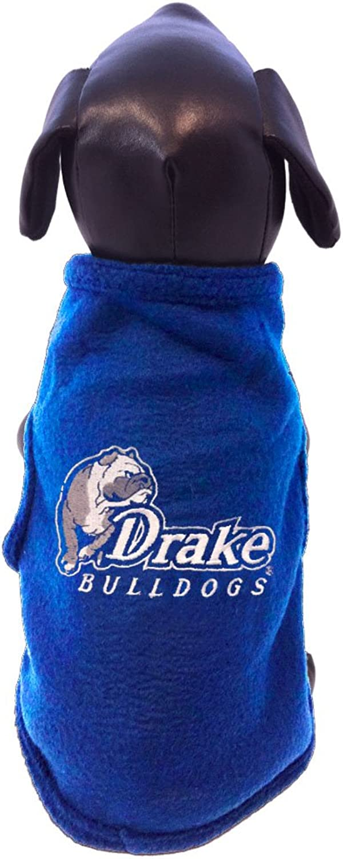 NCAA Drake Bulldogs Sleeveless Polar Fleece Dog Sweatshirt
