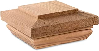 Fits Up to 3.5 x 3.5 Inch Post Newel Post Top 4 x 4 Treated Wood Fence Post Cap 1PC Woodway Cottage Flat Top 4x4 Post Cap