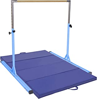 gymmatsdirect Gymnastics Expandable Kip Bar with Mat Set Packages