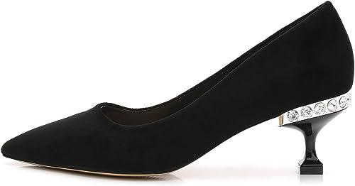 XIAOYY Femme Chaussures à Talons Hauts 6CM Bout Pointu fermé Classique Bureau Soiree