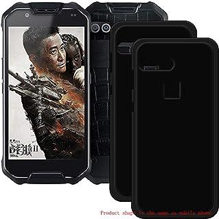 YZKJ Fodral för AGM X2 skydd, [2 stycken] mjuk mobiltelefonväska svart TPU mobiltelefonfodral silikon väska skal fodral fö...