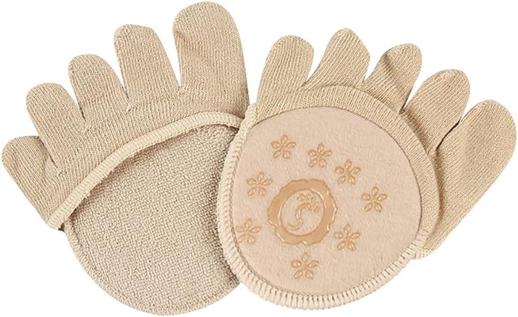 Lnrueg Women Toe Toppers Five-Finger Invisible No Show Nonslip Toe Separated Socks Half Socks Front Palm Foot Pain Pad