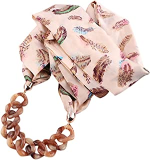 Ausexy Women's Scarf Necklace Versatile Unique Pendant Scarfs Infinity Scarf with Jewelry Accessory