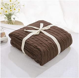 Súper Suave Cálida Manta de Punto Gruesa Cobertura para sofá Cama de Silla Decorativa Moka 180 * 200cm