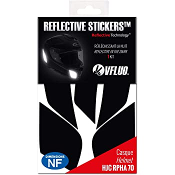 Kit 4 Stickers Retro Reflechissant Acerbis ref1; Casque Moto autocollant