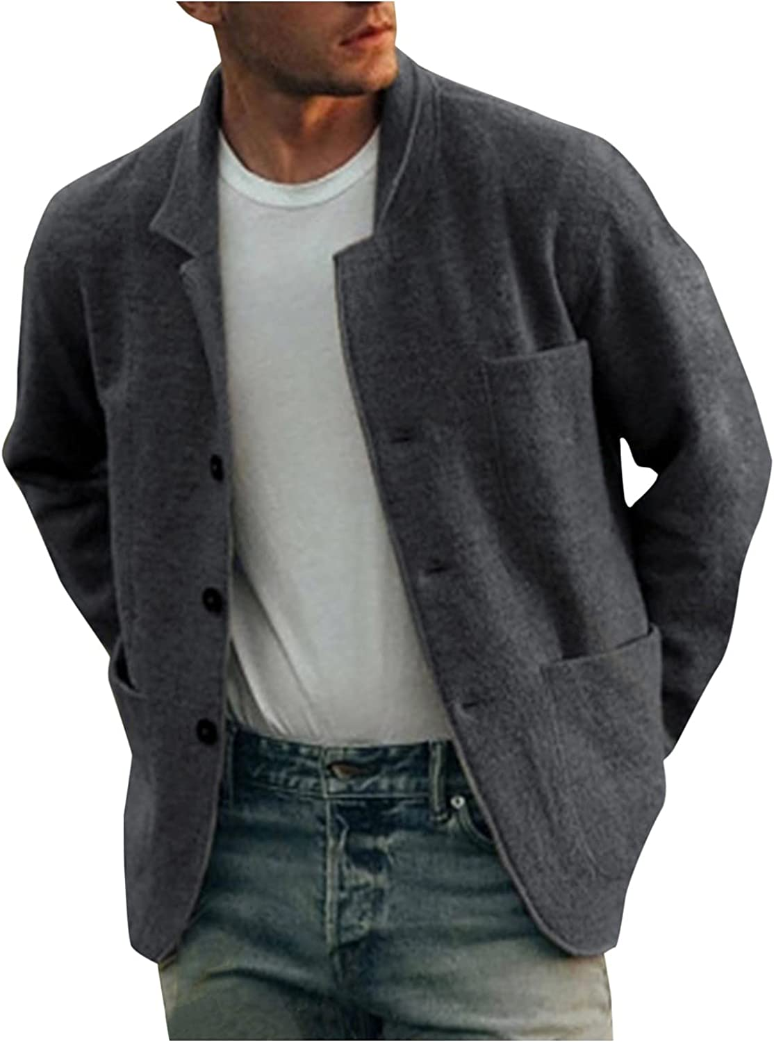 Mens Jackets Casual Big And Tall, Mens Casual Lightweight Jacket Autumn Winter Coats Multi-pocketed Outdoor Jackets