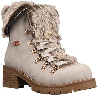 Lugz Women's Adore Fur Classic Chukka Fashion Boot, Nimbus/Gum, 10, M