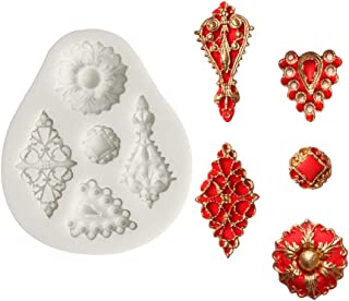 SK 3D Vintage Jewelry Gem Silicone Fondant Mold Diamonds Jewel Chocolate Mould Kitchen Baking Tools (Style 2)