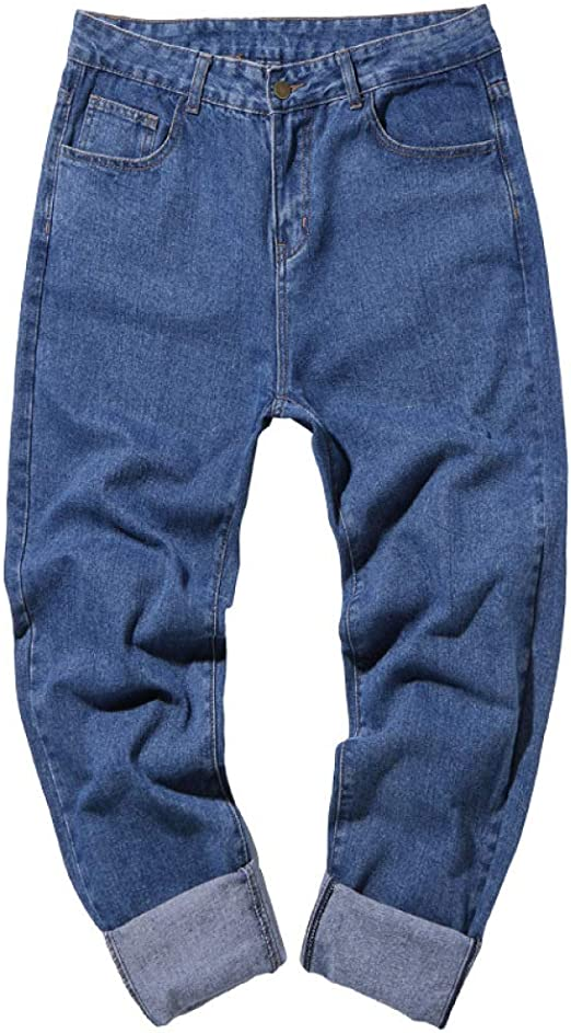 Blend Herren Jeans Baggy Loose Fit Jeans mit Tiefem Schritt Straight Cut W34