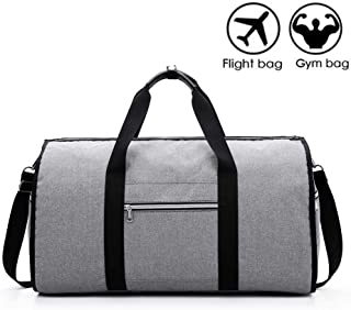 Convertible Travel Garment Bag w/Shoulder Strap, Foldable Luggage Duffel Bag