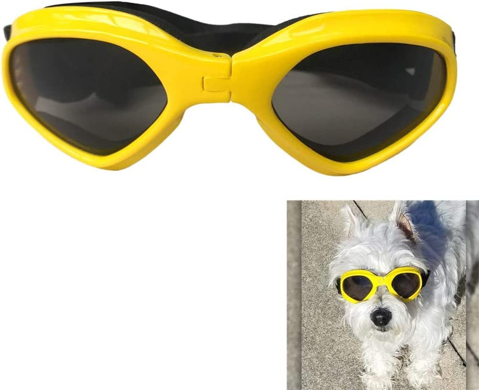 Yongkanghappy Gafas para Gatos Gafas para Perros para Gafas Perro Gafas Gafas Protectoras para Perros Gafas UV para Perro Ojo Gafas de protección Gafas para Gatos Yellow
