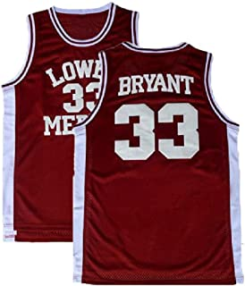 Men's Kobe Jersey 33 Legend Jerseys Retro Basketball Bryant Jersey Red(S-XXL)