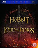 Hobbit Trilogy/The Lord Of The Rings Trilogy: Extended... (30 Blu-Ray) [Edizione: Regno Unito] [Edizione: Regno Unito]