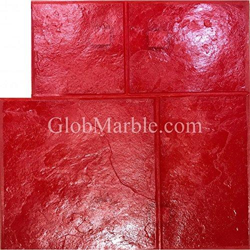 GlobMarble Stamped Concrete. Slate Stone Stamp SM 3003/1 Red Ashlar Slate Concrete Stamp Mats