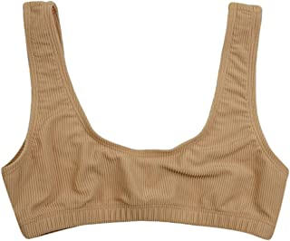 ToBeInStyle Women's Thick Strap Rib Sport Top