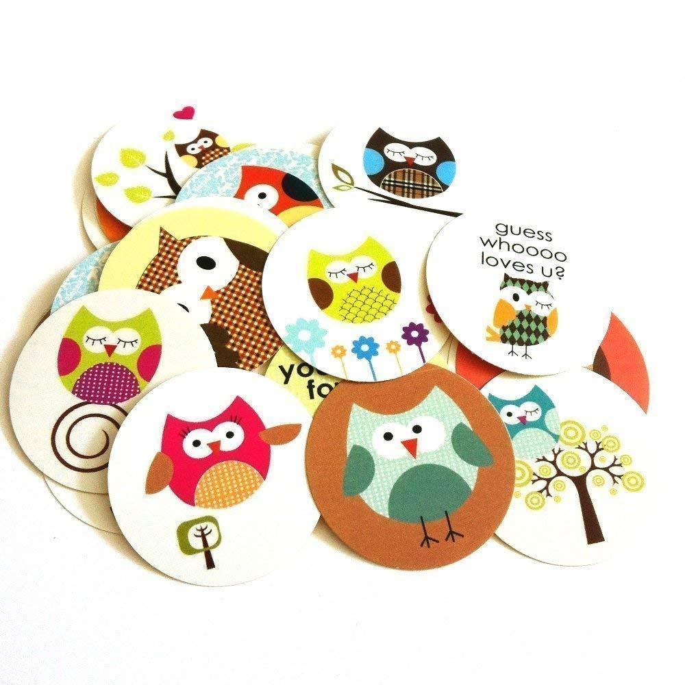 Owl Popular product Sticker Max 87% OFF Labels - Kids Children Boy Birthday Baby Shower Girl
