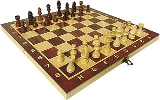 Juego Ajedrez Portatil Profesional Madera Plegable Staunton 3 en 1 Backgammon Juego Damas y Juego de Ajedrez Plegable Ajedrez Profesional Pieza Ajedrez Staunton Ajedrez Madera Tablero Ajedrez Plegable