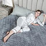 RUXMY Mantén Caliente la Manta con calefacción de Doble Zona, colchón para colchón  Temporizador de Apagado  4 Niveles de Potencia  Control Dual  Gris (Tamaño: 200 * 180 cm)