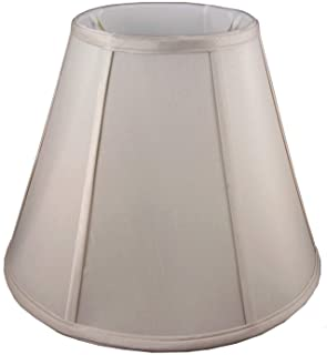 """American Pride 9""""x 18""""x 13.5"""" Round Soft Shantung Tailored Lampshade, Croissant"""