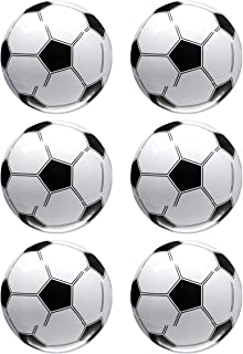 NUOBESTY 6pcs Inflatable Soccer Balls World Cup Party Favors Supplies Decorations Kids Football Toys (White and Black)