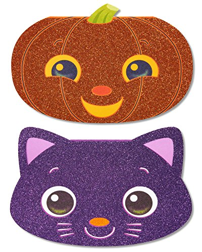 American Greetings Halloween Card Pack for Kids, Cat and Pumpkin (6-Count)