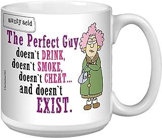 Tree-Free Greetings Extra Large 20-Ounce Ceramic Coffee Mug, Aunty Acid The Perfect Guy