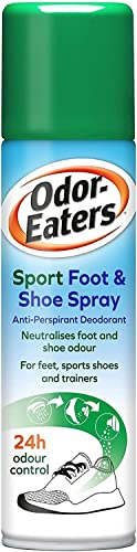 Odor-Eaters, 24 Hour Odour Destroying Antiperspirant Foot and Shoe Spray for Sport Shoes, 150 ml