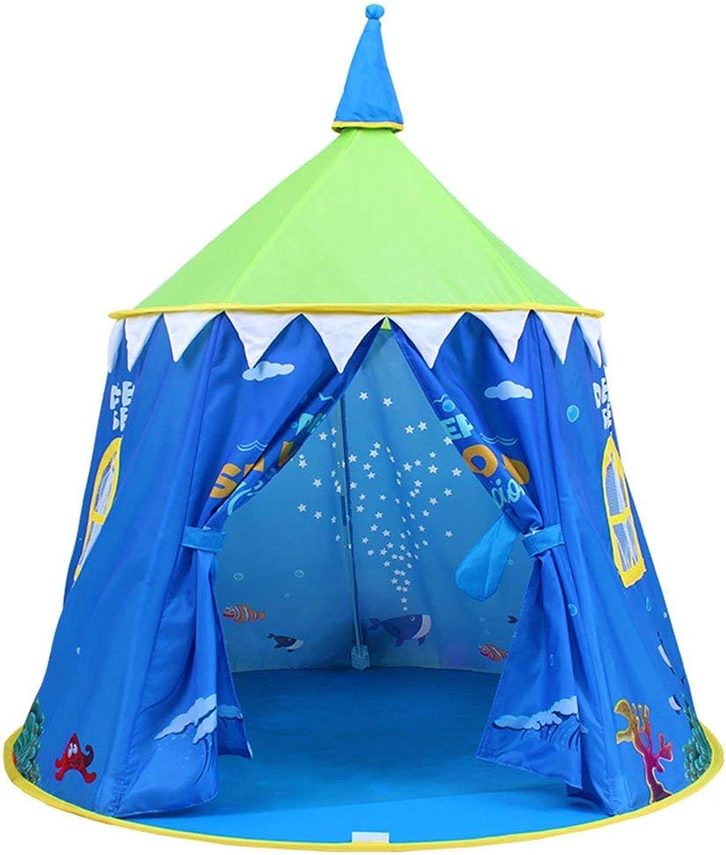 MISJIA Kinderzelt, Innenschloss Game House Little House Jungen und Mdchen Spielhaus Spielzeug Outdoor-Zelt Kann Zelt 120  110cm,Blau