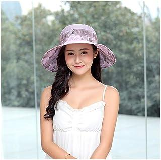 GJPSXTY Transpirable Comodidad Primavera y Verano Gran Sombrero de Playa para Mujer sombrilla Protector Solar Plegable Sombrero de Sol al Aire Libre