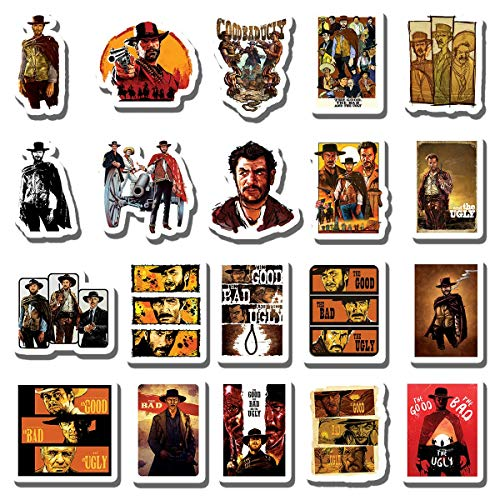 20 PCS Stickers Pack The Aesthetic Good Vinyl The Colorful Bad Waterproof and - The - Ugly for Water Bottle Laptop Bumper Car Bike Luggage Guitar Skateboard