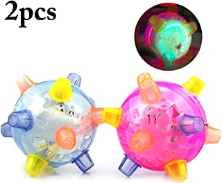 Toy Balls, B bangcool 2PCS Sensory Balls for Toddlers Electric Musical Light up Toys Interactive Toys for Kids