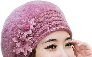 Warm Winter Wool Knitted Beret Beanies Female Caps Faux Rabbit Fur Braided Hats Gorros Cap Bonnet Femme