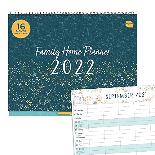 (in English) Boxclever Press 'Family Home Planner' 2021 2022 Calendar. Family Calendar 2021 2022 with 6 Columns…