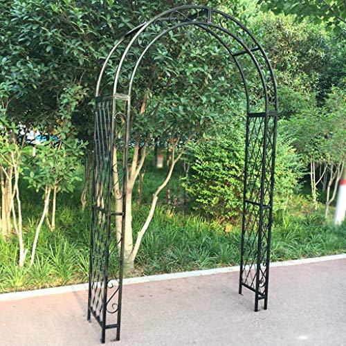 Arco Jardin de Metal Grande para Exteriores, Arco de Rosas para Bodas, Cenador de Jardín para Plantas Trepadoras, Soporte de Enrejado, Patio de Jardín, Pérgola de Hierro (Negro)
