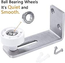 LD BUILD Sliding Barn Door Floor Guide, Stainless Steel Adjustable Wall Mount Stay Roller, Flush to Floor