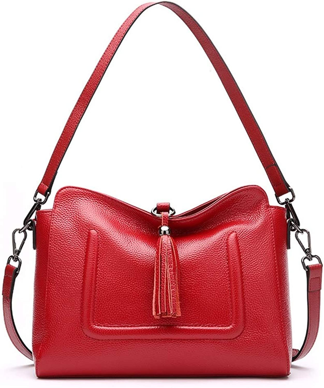 FELICIOO FELICIOO FELICIOO Temperament Fringe Bag Lady Messenger Bag Einfache Umhängetasche Leder Umhängetasche Multifunktions Portable (Farbe   Wine rot) B07MZQ3B9L b58c1f