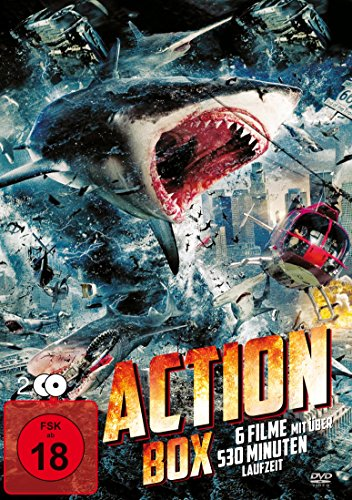 Action Box (6 Filme auf 2 DVDs), inklusive Sharknado, Mercenaries, Hexenkessel, Android Cop, Gangland, High Speed Train